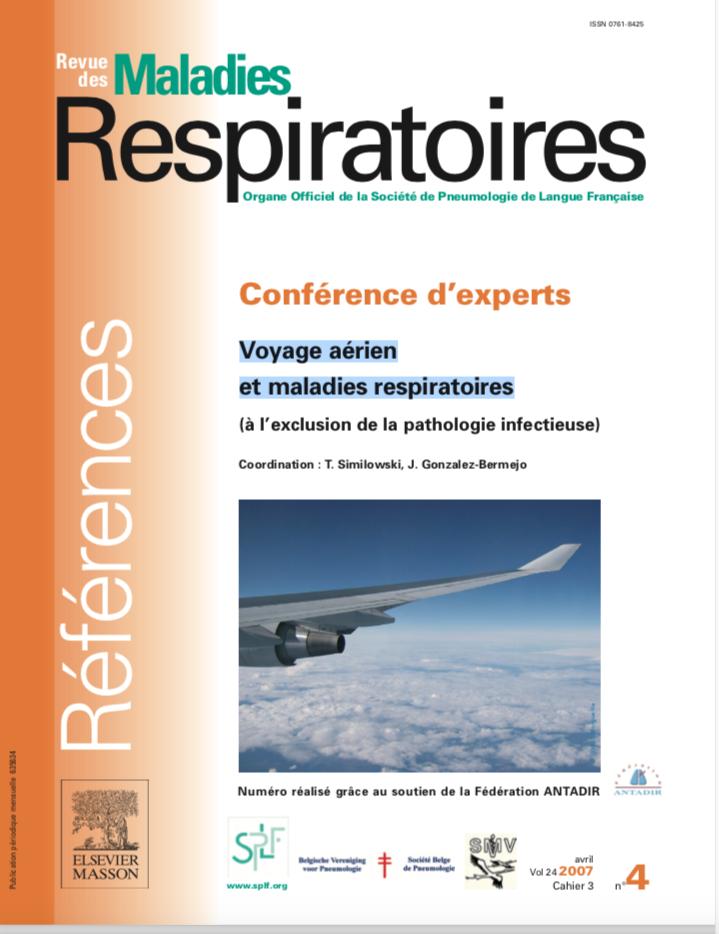 page de couverture de la revue Maladies respiratoires Dossier voyages